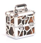 Urbanity Small Aluminium Makeup Cosmetic Beauty Vanity Case Box Giraffe