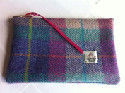 Harris Tweed purse cosmetic make up bag