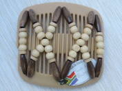 African Butterfly hair clip Beada 2111 11cm Blonde comb
