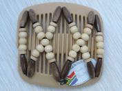 African Butterfly hair clip Beada 2111 11cm Blonde comb