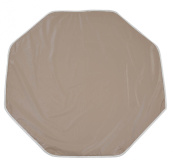 Looping BTPO Playpen Mat Octagonal PVC with Eyelets for Fastening 108 x 108 cm Taupe