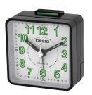 Casio - TQ-140-1BEF - Alarm Clock - Quartz - analogue - Alarm - Black Leather Strap