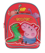 Character Peppa Pig 'George Dino' Large Padded Backpack Front and Side Pockets