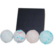 Mens Bath Bomb Gift Set. Huge 4 - 210ml Bath Balls. Perfect Relaxation Present for Husband, Father, Brother, Boyfriend, Coworker. Relieve Stress for Christmas and the Holidays By Daman Bath