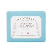 Apoterra Skincare - Organic Lavender + Green Clay Exfoliating Soap