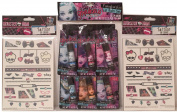 Monster High Lip Balm Set with Tattoos Bundle of 3