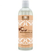 Beauty Aura 100% Pure Macadamia Oil, 16 Fl Ounce - Cold Pressed & Hexane Free - No Synthetic Preservatives, Colours or Fragnances