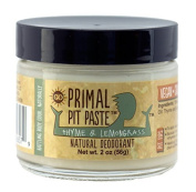 Primal Pit Paste Natural Deodorant, Aluminium Free, Paraben Free, No Added Fragrances, Thyme & Lemongrass by Primal Pit Paste
