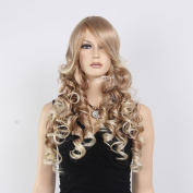 STfantasy Long Deep Curly Wave Blonde Women Hair Wig