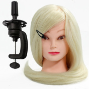 Neverland Beauty 60cm 70% Real Human Hair Hairdressing Cosmetology Mannequin Manikin Training Head with Clamp
