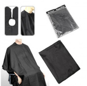 1 BLACK SALON HAIRDRESSING HAIR CUTTING GOWN BARBERS CAPE