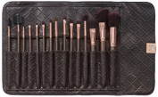BH Cosmetics 15 Piece Rose Gold Brush Set