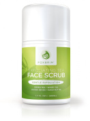 Exfoliating Tea Face Scrub - Natural & Organic - Moisturise While Cleansing and Repairing Skin - With Green & White Tea, Avocado & Olive Butters, and Aloe - Foxbrim 50ml