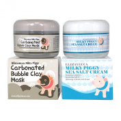 Milky Piggy Bubble Clay Mask 100g + Milky Piggy Sea Salt Cream 100g