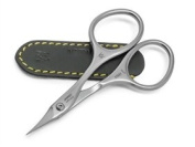 FINOX stainless tower point cuticle scissors in matte. Made by GERManikure in Solingen, Germany