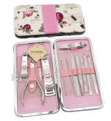 Okbool 12pcs Flower Stainless Steel Nail Clipper Care Personal Manicure & Pedicure Set Travel & Grooming Kit