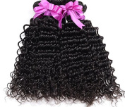 Worldflying@Beauty Grade 7A Deep Weave Natural Black Colour 100% Unprocessed Brazilian Remy Human Hair Extensions Deep Curly Wave Weft 1PC/Lot 50Gram