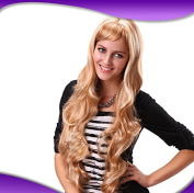 fake hair blonde wig long curly hair and wig female