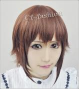 K Return of Kings Yukizome Kukuri Brown Short Wig Cosplay Costume Wig