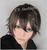 Cf-fahsion Ikki Kurogane Brown Short Straight Cosplay Costume Wig