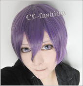 Asterisk Purple Short Straight Cosplay Party Wig
