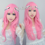 Asterisk Julis-alexia Von Riessfeld Pink Long Fashion Cosplay Wig Anime Hair