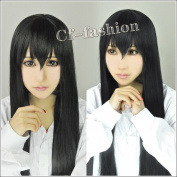 Sakurako Kujo Black Long Straight Cosplay Wig