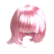 ACE Fashion Bobo Short Straight Pink Party Dress Hair Wig Cosplay
