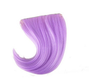 Colourful Wigs for Cosplay,Stage/Party Wig/Hair Bangs Wig, Light Purple