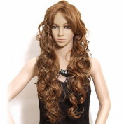 Nadula New Fashion Europe and American Women's Wig Hot Long Wavy Curly Cosplay Wig with Free Wig Cap