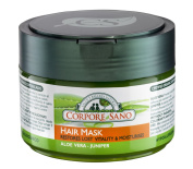 Corpore Sano Hair Mask-Juniper & Aloe-Restores & Moisturises-CERTIFIED ORGANIC-HYPPOALLERGENIC-NO PARABENS-250ml/8.4 fl oz