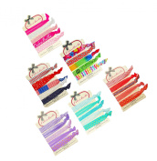 ColorBeBe No-Crease, Soft and Stretchy Hair Ties - 30pcs (Blonde, Black and Brown) - HT-30A
