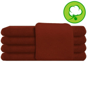 Brown Salon Towel 100% Cotton 41cm x 70cm - Hand Towel- 3 DOZEN- 36 Pack
