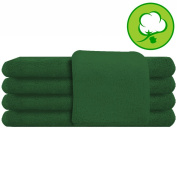 Green Salon Towel 100% Cotton 41cm x 70cm . Hand Towel- 1 DOZEN