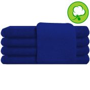 Blue Salon Towel 100% Cotton 41cm x 27. Hand Towel- 1 DOZEN
