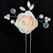 Bridal Hair Pin for Wedding Hair Clip with Peal Flower Hair Decorative Pack of 6 Piece