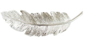 EachWell Silver Feather Wedding Bride Lady Hairstyle Clip Hairpin Headwear Edge Accessory Decoration 10cm