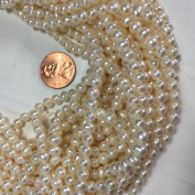 Fresh Water Pearl 4x5-5.5mm, White Potato Shape, 15.5""