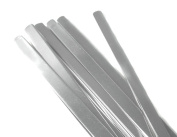 NinjaCrafters Fifty (50) 0.6cm Pure Aluminium Ring Blanks for Stamping - Thick 14 Gauge - Tumbled, Polished - Finished Blanks, sizes S M L