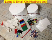 Large and Small Microwave kiln kits(9items/lot) large glass kiln for fusing glass