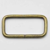 "30 Pcs 1 1/2"" 38mm Rectangle Ring No Welded D Dee Ring for webbing Belt ribbon buckles Bronze"