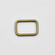 "30 Pcs 3/4"" 19mm Rectangle Ring No Welded for D Dee Ring webbing Belt ribbon buckles Bronze"