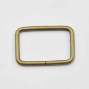 "30 Pcs 1 1/4"" 32mm Rectangle Ring No Welded D Dee Ring for webbing Belt ribbon buckles Bronze"