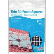 BLACK ASST-THIN 3D FOAM SQUARES