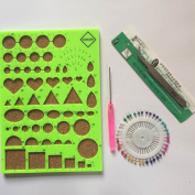 Yontree DIY Quilling Kits Work Board, Slotted Tools, Pins