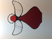 Handcrafted (Red) Angel Sun Catcher Stained Glass Ornament