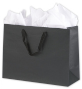 Solid Euro-Shoppers - Broadway Black Manhattan Eco Euro-Shoppers, 16 x 15cm x 30cm (100 Bags) - BOWS-5844-0216