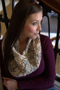 Cosy Muffler Crochet Kit - Natural - Encore Mega