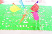 Mexican Wedding Decoration, GREEN Table Runner, Papel Picado, Fiesta Party, Mexican Style Ceremony, Tissue Paper, Hand-crafted, Birthday Party Kids