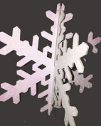 AGS Glittered 3D Winter Snowflake Hanging Decoration
